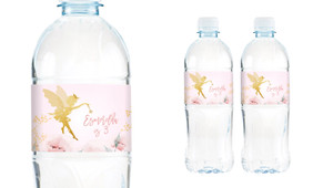 Little Fairy Birthday Birthday Water Bottle Stickers (Set Of 5) - Australia's #1 Kids Party Supplies