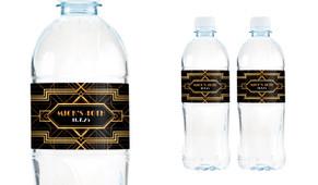 Gatsby Gold Birthday Birthday Water Bottle Stickers (Set Of 5) - Australia's #1 Kids Party Supplies