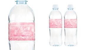 Pink Glitter Birthday Birthday Water Bottle Stickers (Set Of 5) - Australia's #1 Kids Party Supplies