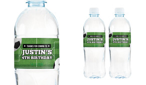 Soccer Birthday Birthday Water Bottle Stickers (Set Of 6)