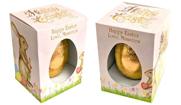 Beautiful Bunny Personalised Easter Egg Box