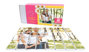 Daisies On Pink Mother's Day Chocolate Jigsaw Puzzle (48-Piece)