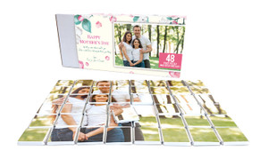 Falling Petals Mother's Day Chocolate Jigsaw Puzzle (48-Piece)