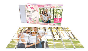 Floral Watercolour Mother's Day Chocolate Jigsaw Puzzle (48-Piece)