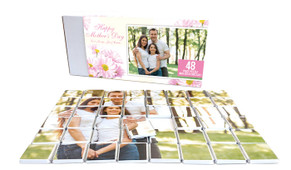 Pink Daisies Mother's Day Chocolate Jigsaw Puzzle (48-Piece)