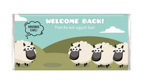 Missing Ewe Welcome Back Personalised Chocolate Bars