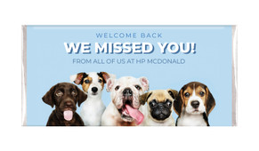 Dogs Welcome Back Personalised Chocolate Bars