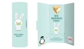 Cute Social Distancing Welcome Back Chocolate Greeting Card