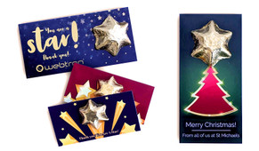 Personalised Chocolate Star Card