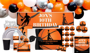 Basketball Personalised Birthday Party Pack