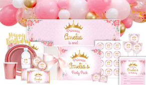 Princess Tiara Personalised Party Pack