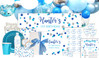 Confetti In Blue And Silver Personalised Party Pack