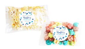 Confetti Blue And Silver Popcorn Bags With Personalisation