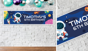Astronaut Birthday Party Banner - 1.2m Wide