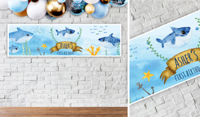 Baby Shark Birthday Party Banner - 1.2m Wide
