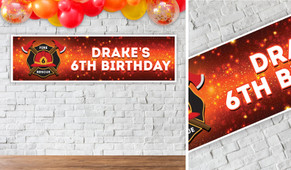 Firefighter Birthday Party Banner - 1.2m Wide