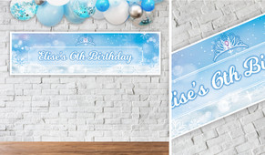 Ice Princess Birthday Party Banner - 1.2m Wide
