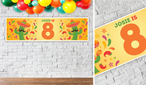 Mexican Fiesta Birthday Party Banner - 1.2m Wide