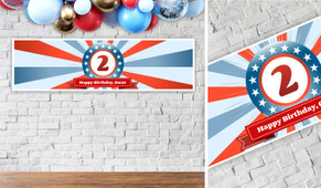 Superhero Birthday Party Banner - 1.2m Wide