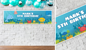 Under The Sea Birthday Party Banner - 1.2m Wide