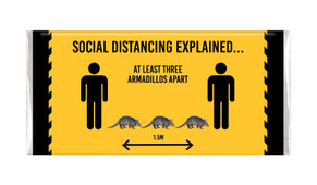 Armadillo Social Distancing Personalised Chocolate Bar