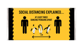 Dancing Penguins Social Distancing Personalised Chocolate Bar