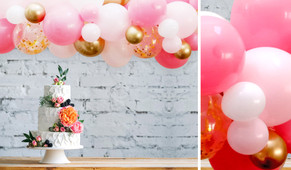 Regal Rose DIY Balloon Garland Kit - 1.8m Wide