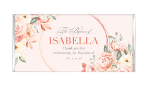 Classic Personalised Baptism Chocolate Bar