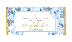 Floral Bed Personalised Baptism Chocolate Bar