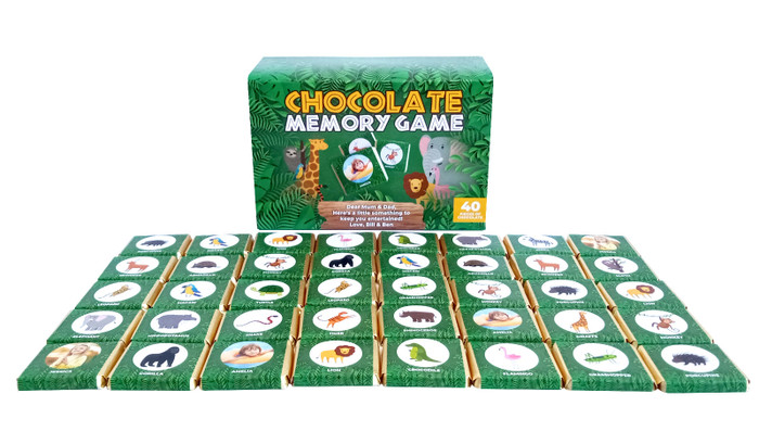 Chocolate Memory Game With Personalised Cover
