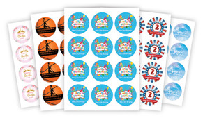 Sheet Of Personalised 65mm Labels (12 pack)