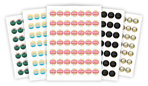 Sheet Of Personalised 25mm Labels - Pack Of 70