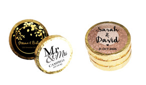 Personalised Chocolate Coin Wedding Favour (Gold Or Silver)