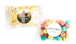 Personalised Popcorn Wedding Favour Bags