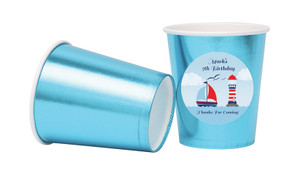 Boats At Sea Personalised Party Cups