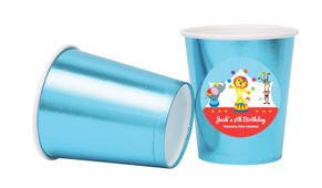 Circus Animals Personalised Party Cups