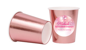 Pink Glam Personalised Party Cups