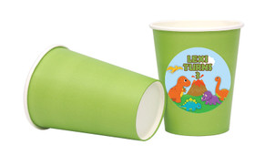 Dinosaur Theme Personalised Party Cups