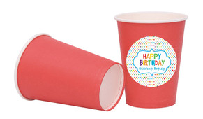 Happy Dots Birthday Personalised Party Cups