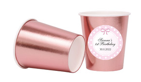 Polkadot Pink Personalised Party Cups