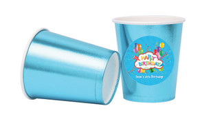 Happy Confetti Personalised Party Cups