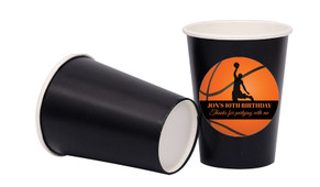 Basketballs Personalised Party Cups