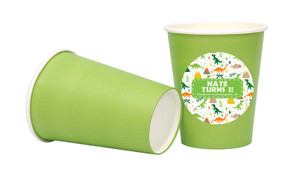 Dinosaur Background Personalised Party Cups