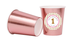 Gold Stars Personalised Party Cups