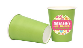 60s Hippie Personalised Party Cups