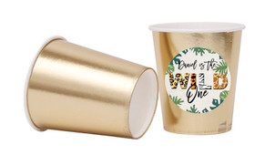 Wild One Personalised Party Cups