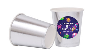 Outerspace Personalised Party Cups