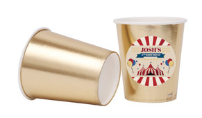 Retro Circus Personalised Party Cups