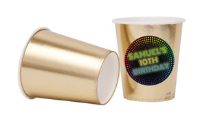 Disco Lights Personalised Party Cups