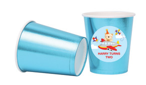 Bear Air Plane Personalised Party Cups